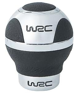 WRC 007303 - Pomo para palanca de cambios (3 puntos de agarre, aluminio y piel), color negro