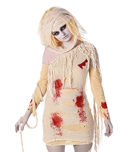 Female Mummy Costume - Halloween Bloody Egyptian Undead Bodysuit, X-Small