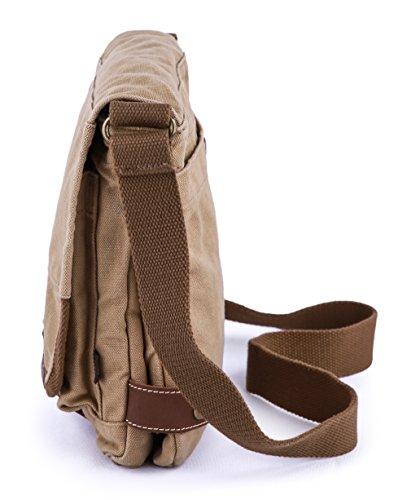 Body Bag Gootium Cotton Messenger 21223 Khaki Cross Small Canvas UxBIxw0