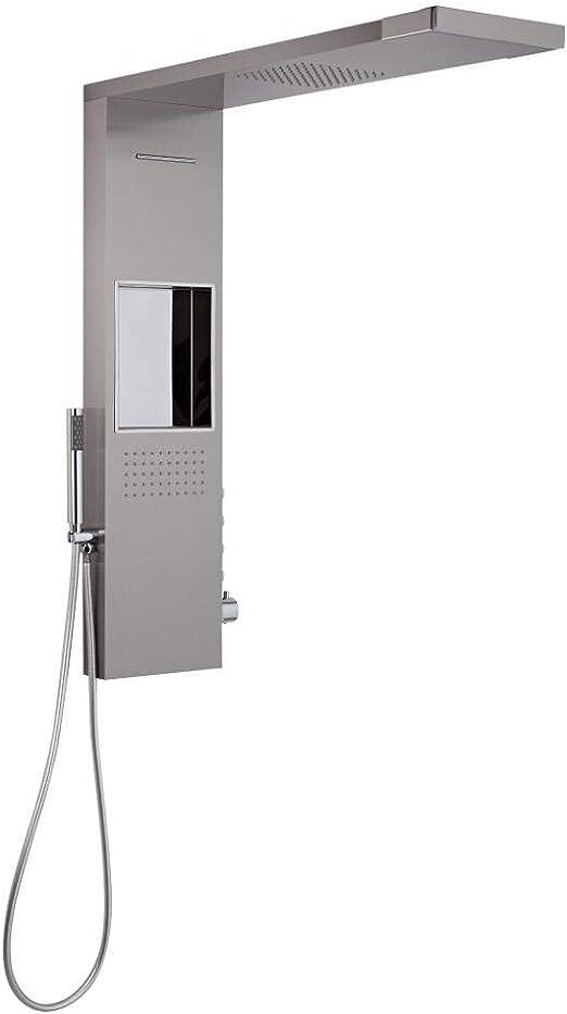 Hudson Reed Iko - Columna de Ducha termostática y alcachofa con ...