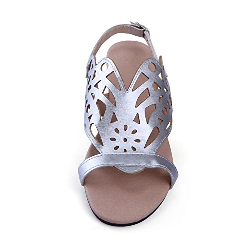 Over Coolcept Shoes Women Size Silver Sandals Fashion Slingback Flat 85 1fYwR1