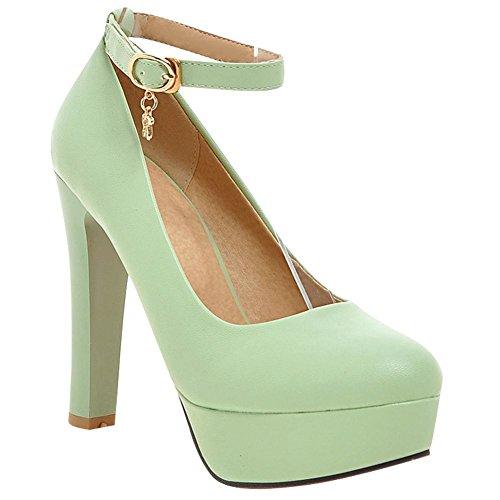 Elegante fibbila Chiaro Pumps MissSaSa Donna Scarpe Verde 8CnFRtRg