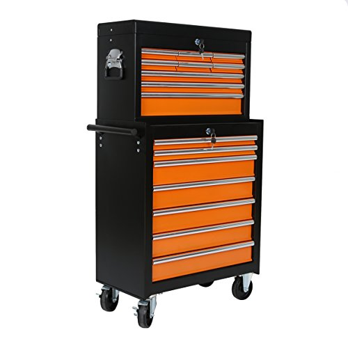 Portable 16 Drawers Tool Cart Top Chest Box Rolling Toolbox Cabinets Storage Review