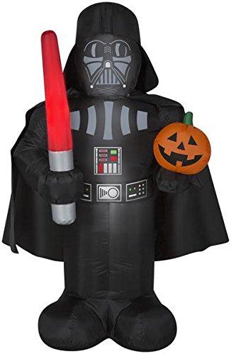 Airblown 5 ft Star Wars Darth Vader w/ Pumpkin Halloween Inflatable]()