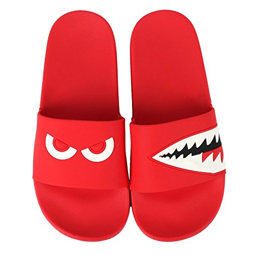 Summer Personality with Cool Slippers Soft Shark and Geek Indoor Bathroom Couples Red Lovely Female Stay Anti Red Slip fankou 40 Bottom w0ztAq