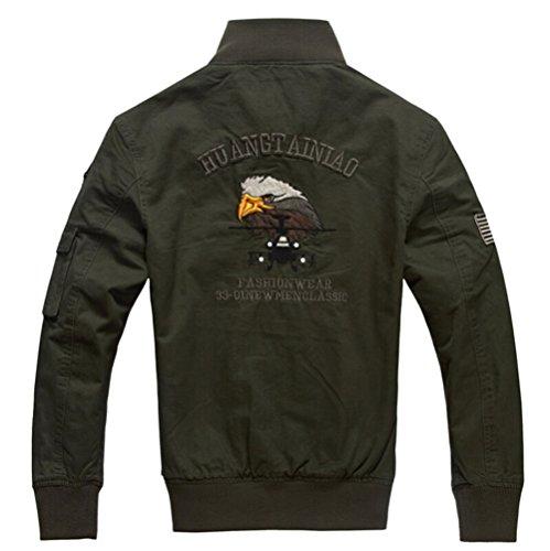 In Slim B8203 Szyysd Da Fit Giacca Green Casual Leggero army Militare Cotone Uomo 4HI1qHZw