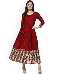 Dream Angel Fashion Women Dress Kurti Printed Anarkali Kurta