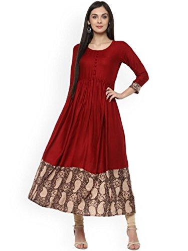 Dream Angel Fashion Women Dress Kurti Printed Anarkali Kurta (XX Large, - Kurta Designer Salwar