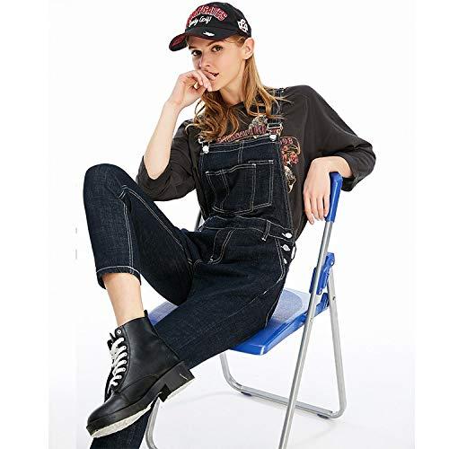 Jeans alta vita MVGUIHZPO nove donna stile M vita jeans donna blue da M ampia punti Deep nuovo vR1xnA4wWR