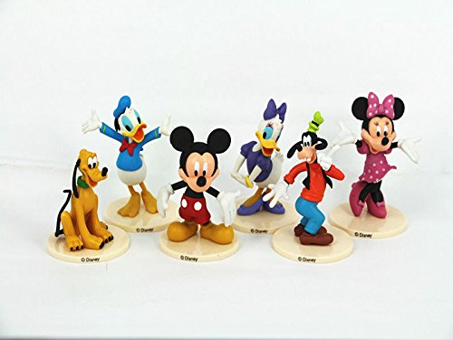 6PCS MICKEY MOUSE CLUBHOUSE Figure Set Mickey Minnie Goofy PVC TOY Cake Topper