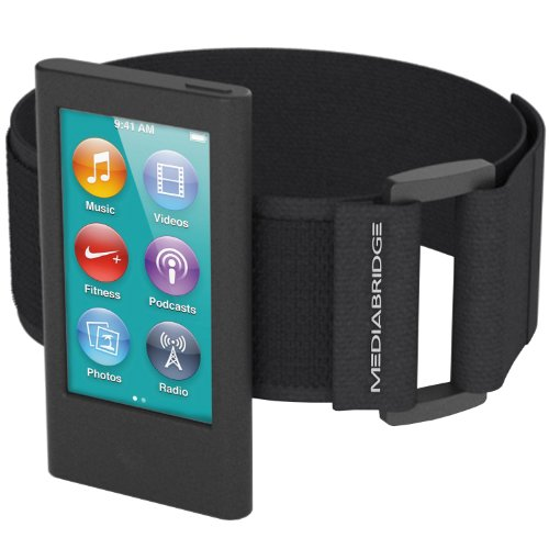 Protector Screen Ipod Armband Nano (Mediabridge Armband for iPod Nano - 7th Generation / 8th Generation ( Black ) - Model AB1 (Part# AB1-IPN7-BLACK ))