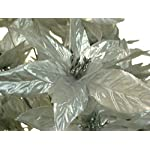 Silver-Christmas-Poinsettia-Bush-24-Artificial-Silk-Flowers-24-Bouquet-024SL