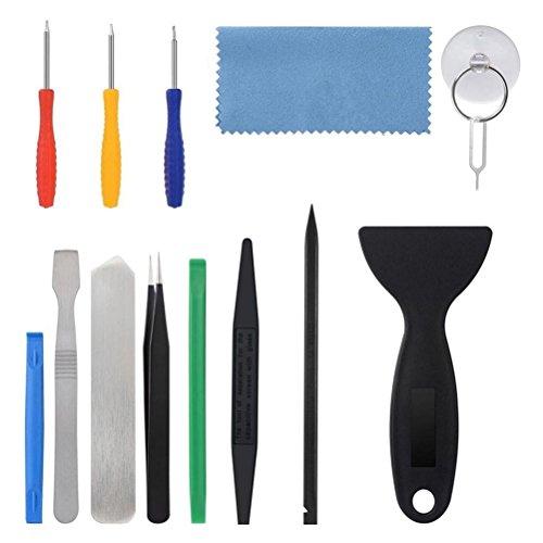UKCOCO 15 piezas de herramientas de apertura Pry Kits de herramientas de reparación profesional para Tablet PC y teléfono inteligente
