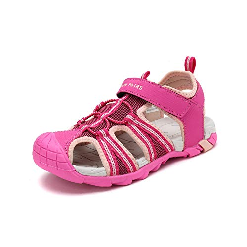 DREAM PAIRS Big Kid 170813-K Fuchsia Shell Pink Outdoor Summer Sandals Size 6 M US Big Kid