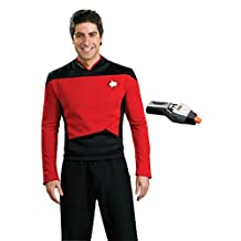 Rubie's Men's Star Trek TNG Deluxe Command Uniform Costume & Phaser
