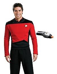Rubie's Men's Star Trek TNG Deluxe Command Uniform Costume & Phaser