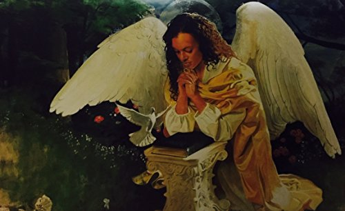 Prayer Warrior (Religious - Female Angel) - Edward Clay Wright 24x36 Unframed - African American Black Art Print Wall Decor Poster ()