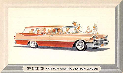 1959 Dodge Custom Sierra Station Wagon Advertising Vintage Postcard JB626913