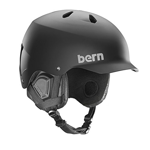 Bern Watts Thinshell w/ 8Tracks Audio Snow Helmet Matte Black/Black Cordova Mens (Matte Black, S/M)