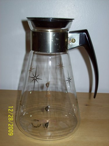 Vintage Corning PYREX Stars Coffee Tea Replacement Glass Carafe - 6 Cup Capacity