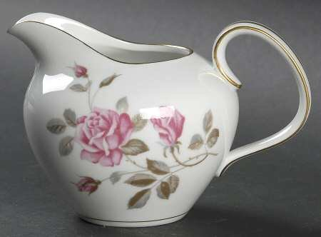 (Vintage Noritake China Creamer in Pink Rose Pattern with Gold Trim Japan 5457 )