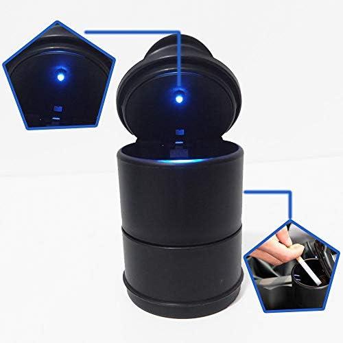 LIZIB ナポレックス 車用 灰皿 センサーイルミアッシュ ブラック LED付 ククリーンアッシュ ドリンクホルダー型