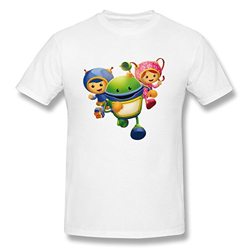 [YOGUYA Men's Team Umizoomi T-shirt White L] (Customes Halloween Maternity)