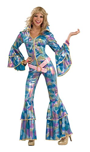 Disco Mama Costumes (Forum Novelties Women's Disco Momma 70's Costume, Blue, X-Small/Small)