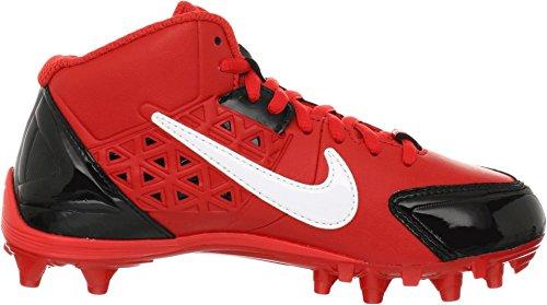 Kids Nike Alpha Streik 3/4 Td 579372 001 Svart Hvit Fotball Cleats Svart / Utfordre Rød / Hvit
