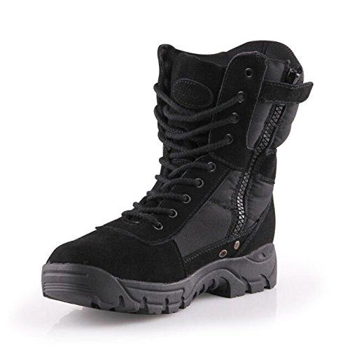 Burgan 888 Tout-terrain Tactique Taille Zip Boot (unisexe) Noir