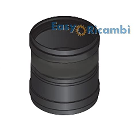 Adaptador Manguito FF acero hembra-hembra Tubo Estufa de pellets diámetro 80 mm)