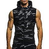YOcheerful Mens Hooded Coat Long Sleeve Hoodie Hoody Pullover Shirt Tee Top Vest