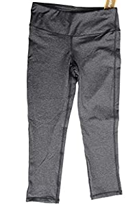 Oalka Women's Yoga Capris Power Flex Running Pants Workout Leggings