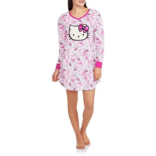Hello Kitty Women's License Fleece Sleep Night Shirt (L/XL (14-16)) (Chip And Dale Costumes)
