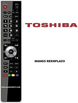 Mando TV Toshiba CT-90327[TV+REGZA]: Amazon.es: Electrónica