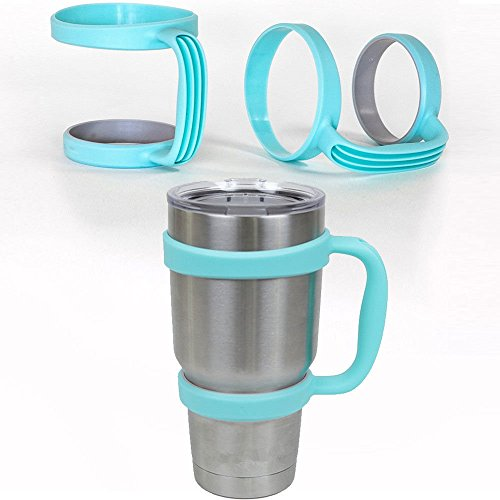 Hiquty Blue Handle for 30 Oz YETI Cup Holder Travel Rambler Coffee Tumbler Drinkware