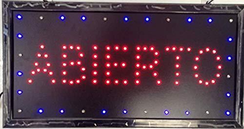 Letrero cartel Panel LED iluminacion negocio abierto open bar locutorio restaurante peluquería cafe (ABIERTO-R)