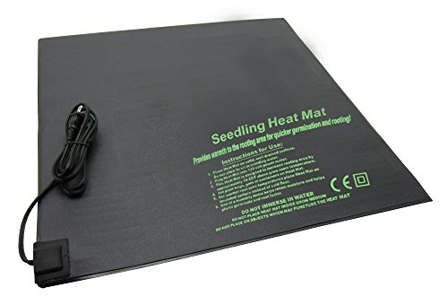 """BloomGrow 20""""x10"""" 20""""x20"""" 48""""x20"""" Seed Starter Pad Germination Propagation Clone Seedling Heat Mat (20""""x20"""") by BloomGrow (Image #6)"""