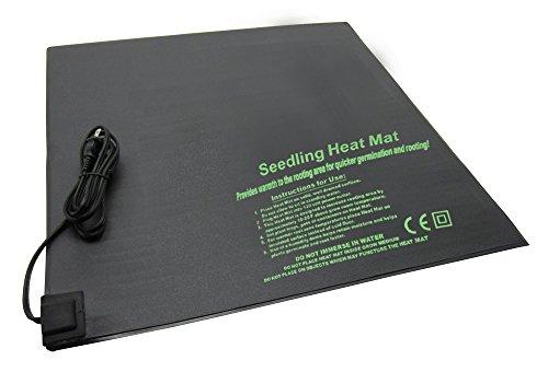 "BloomGrow 20""x10"" 20""x20"" 48""x20"" Seed Starter Pad Germination Propagation Clone Seedling Heat Mat (20""x20"")"