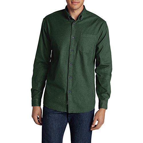 Eddie Bauer Men's Eddie's Favorite Flannel Classic Fit Shirt - Solid, Irish Moss (Irish Flannel Green)