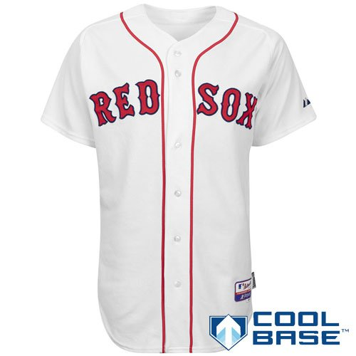MLB Men's Boston Red Sox Six Button Cool Base Authentic Extended Size Home Jersey (White, 60/XXXX-Large)