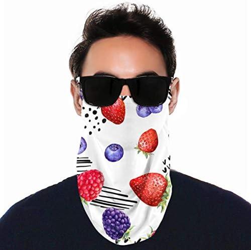フェイスカバー Uvカット ネックガード 冷感 夏用 日焼け防止 飛沫防止 耳かけタイプ レディース メンズ Juicy Berry Raspberry
