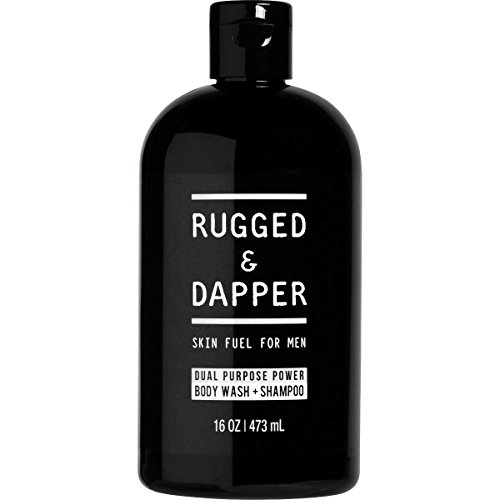 RUGGED & DAPPER - Shampoo & Body Wash for Men - 16oz - Natural Ingredients Moisturize Hair & Fight Dandruff – All-In-One Head-to-Toe Soap for the Entire Body - Moisturizing Normal Skin Body Wash