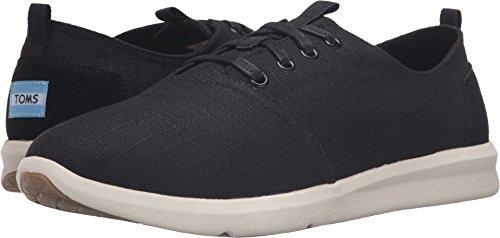 TOMS 10009168 Men's Del Rey Canvas Sneakers, Black Linen, 7 D(M) US ()