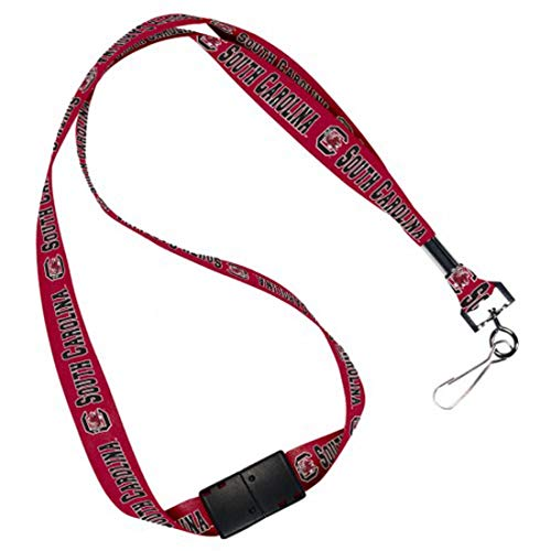 (WinCraft South Carolina Fighting Gamecocks Lanyard with Safety Breakaway Clasp and Metal Crimp)