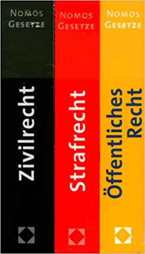 öffentliches Recht Strafrecht Zivilrecht Nomos Gesetze Amazon De Unbekannt Bücher