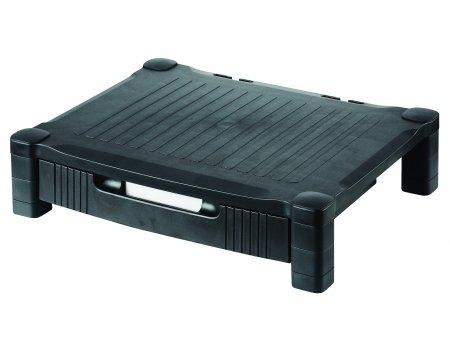 hjh OFFICE 721030 Monitorständer Altura Pro mit Schublade, schwarz