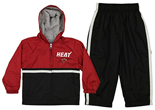 Outerstuff NBA Infants and Toddlers Miami Heat Swish Windsuit Jacket & Pant Set, 12 Months (Baby Boy Clothes Miami Heat)