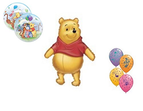 LoonBalloon WINNIE The POOH Welcome Little One (9) Baby Shower Party Mylar & Latex Balloons]()