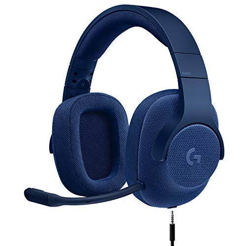 Logitech G433 7.1 Wired Gaming Headset with DTS Headphone: X 7.1 Surround for PC, PS4, PS4 PRO, Xbox One, Xbox One S, Nintendo Switch - Royal - Dome Headset